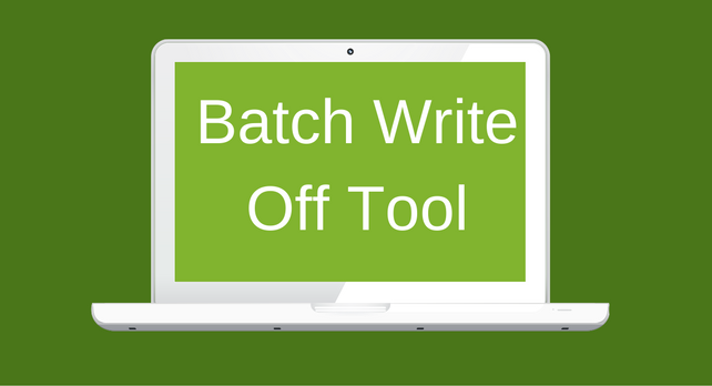 batch write off blog graphic