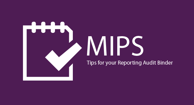 MIPS - Tips for your Reporting Audit Binder